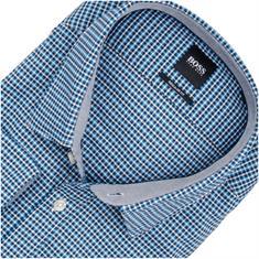 BOSS Freizeithemd blau