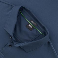 BOSS langarm Poloshirt blau