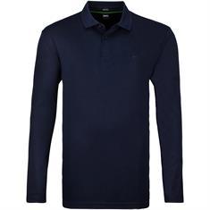 BOSS langarm Poloshirt dunkelblau