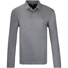 BOSS langarm Poloshirt grau