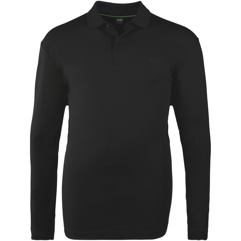 innovative design ef740 661ac BOSS langarm Poloshirt schwarz