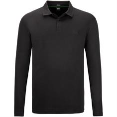 BOSS langarm Poloshirt schwarz