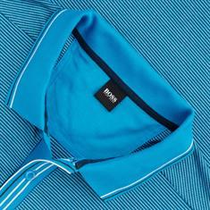 BOSS langarm Poloshirt türkis