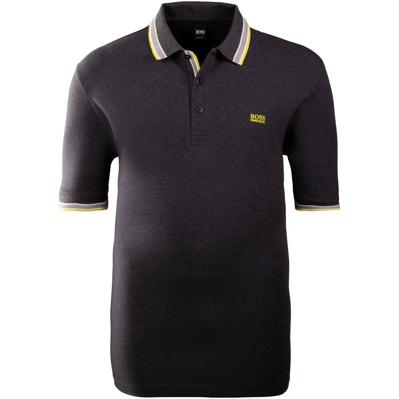 a31483c1b1e6f3 BOSS Poloshirt blau-meliert Herrenmode in Übergrößen kaufen