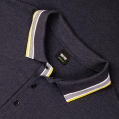 BOSS Poloshirt blau-meliert