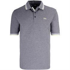 BOSS Poloshirt grau-meliert