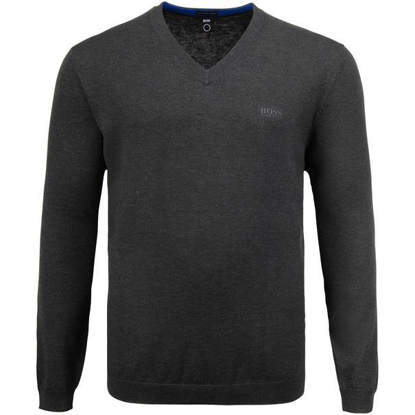 BOSS V-Pullover anthrazit