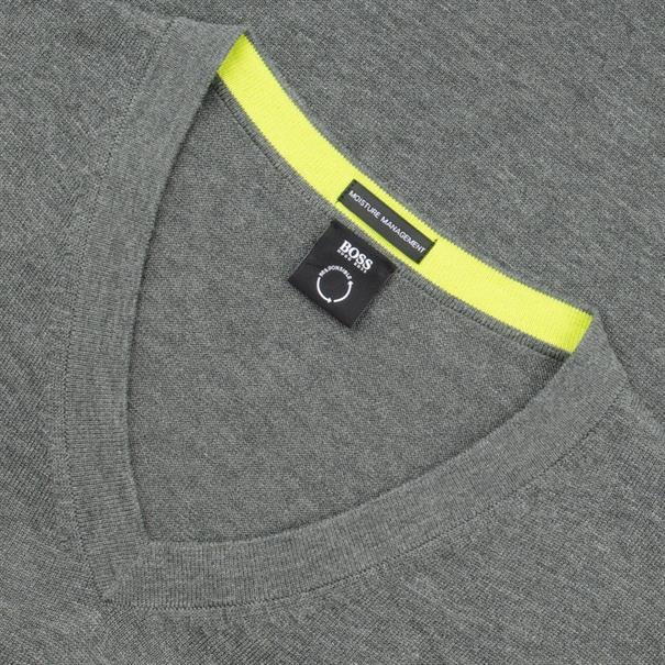 BOSS V-Pullover grau