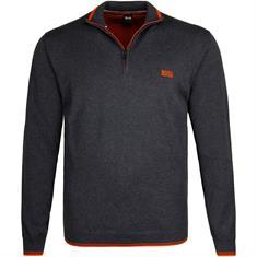 BOSS Zipper-Pullover grau-meliert