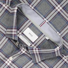BRAX Flanellhemd - Modern Fit grau