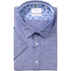 BRAX halbarm Freizeithemd blau-meliert