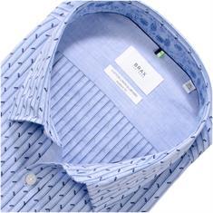 BRAX halbarm Freizeithemd blau