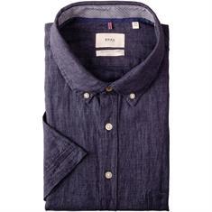 BRAX halbarm Freizeithemd dunkelblau