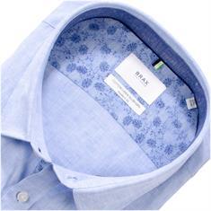 BRAX halbarm Freizeithemd hellblau-meliert