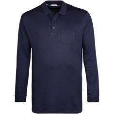 BRAX langarm Poloshirt marine