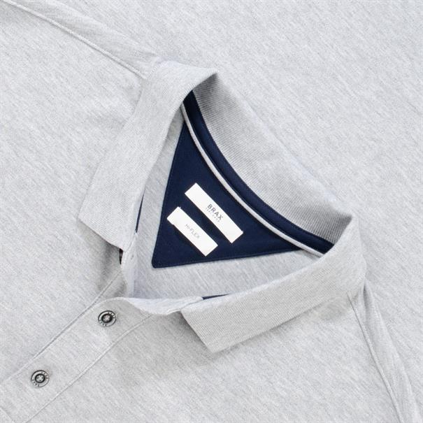 BRAX Poloshirt grau-meliert