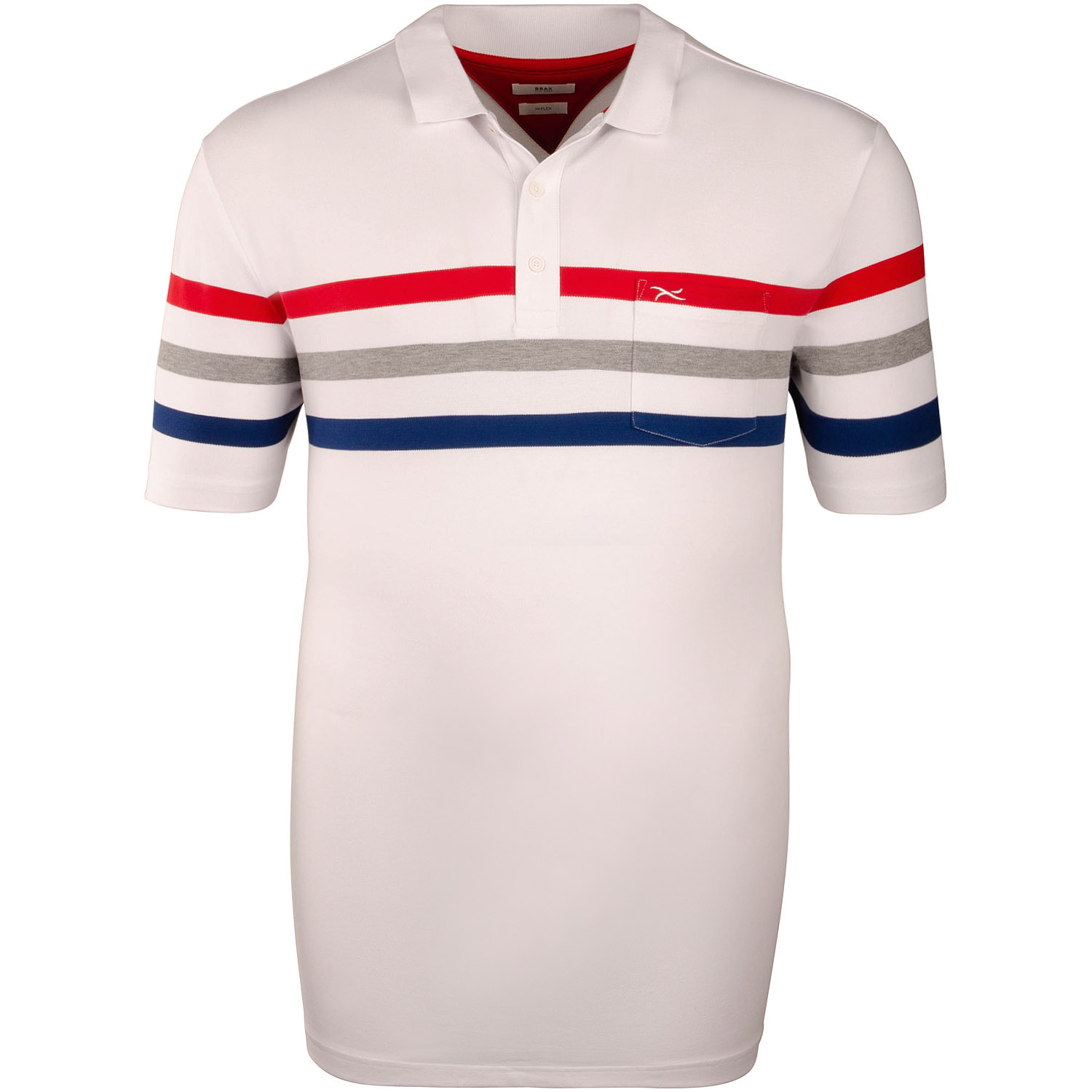 wholesale outlet unique design really comfortable BRAX Poloshirt weiß