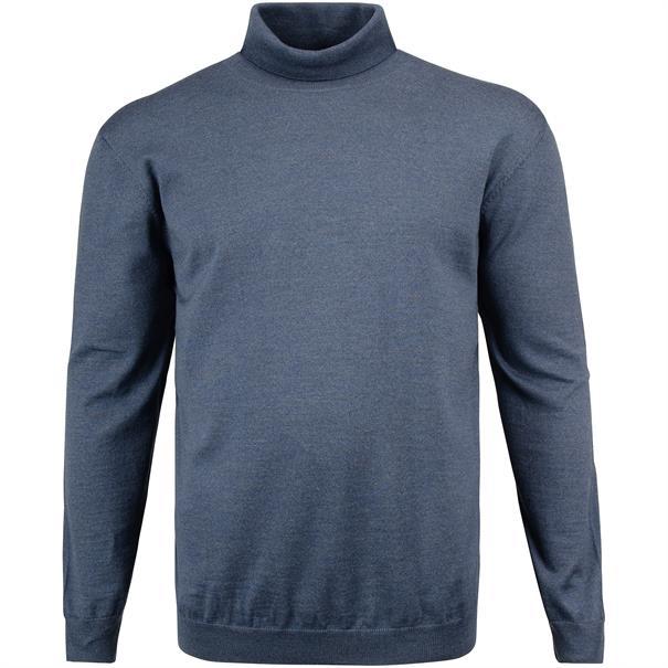 BRAX Rollkragen-Pullover blau-meliert