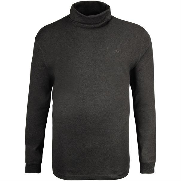 BRAX Rollkragen-Pullover grau-meliert