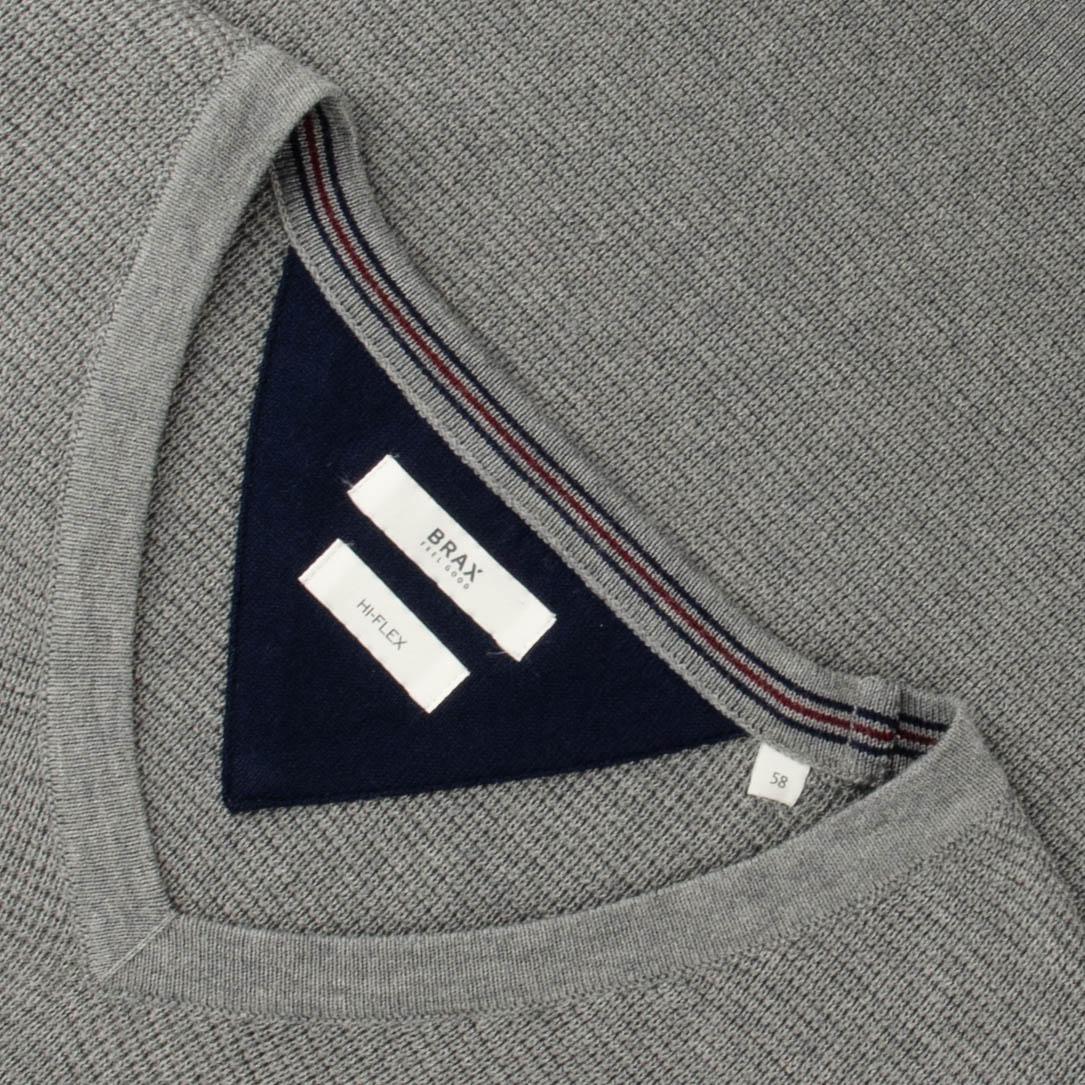 Keine Verkaufssteuer Größe 40 verschiedene Farben BRAX V-Pullover grau