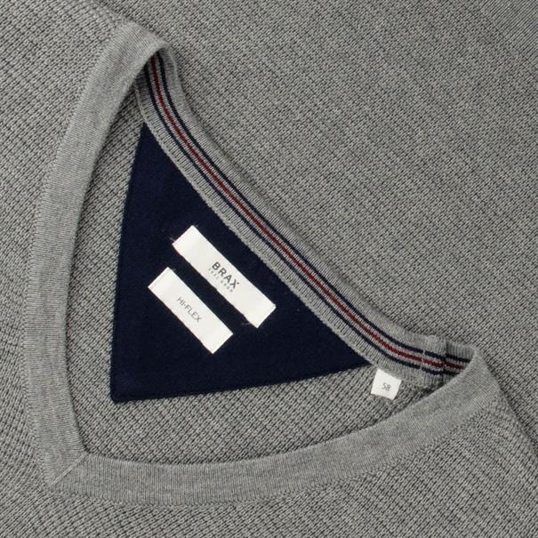 BRAX V-Pullover grau