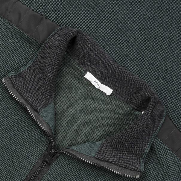BRAX Zipp-Pullover grün