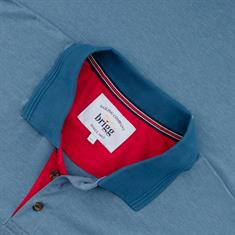 BRIGG Poloshirt blau-meliert
