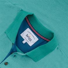 BRIGG Poloshirt grün-meliert