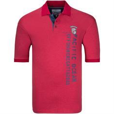 BRIGG Poloshirt rot-meliert