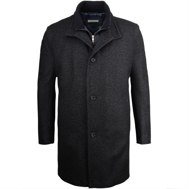 BUGATTI Mantel blau-meliert