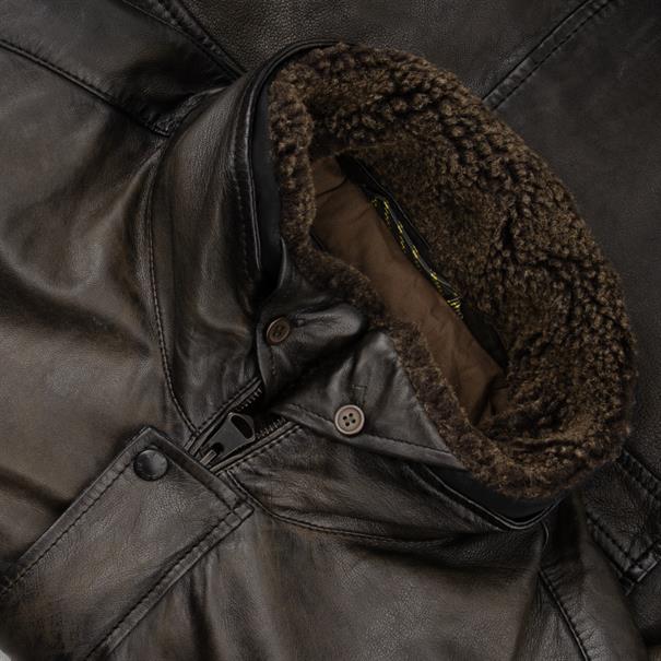 CAMEL ACTIVE Lederjacke braun