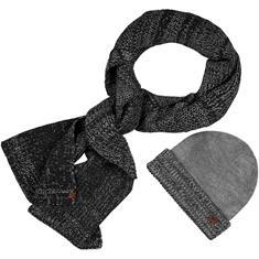 CAMEL ACTIVE Schal und Mütze grau