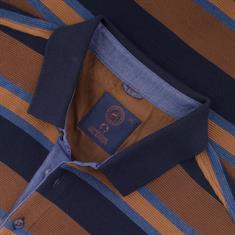 CAMPIONE langarm Poloshirt braun