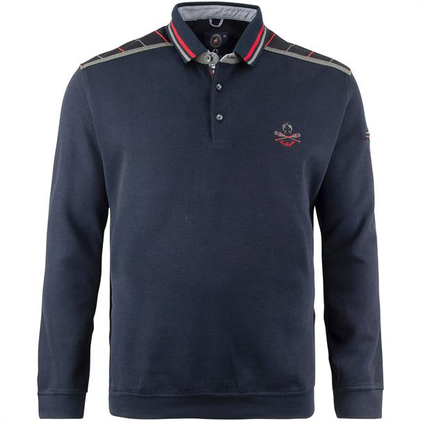 CAMPIONE Polo-Sweatshirt blau