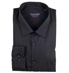 CASAMODA Cityhemd - EXTRA langer Arm schwarz