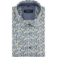 CASAMODA halbarm Freizeithemd blau