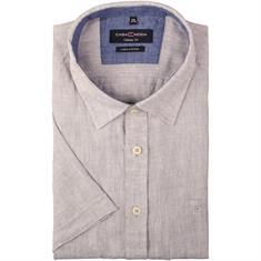 CASAMODA halbarm Freizeithemd grau