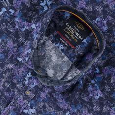 CASAMODA halbarm Freizeithemd violett