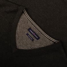 CASAMODA V-Pullover anthrazit