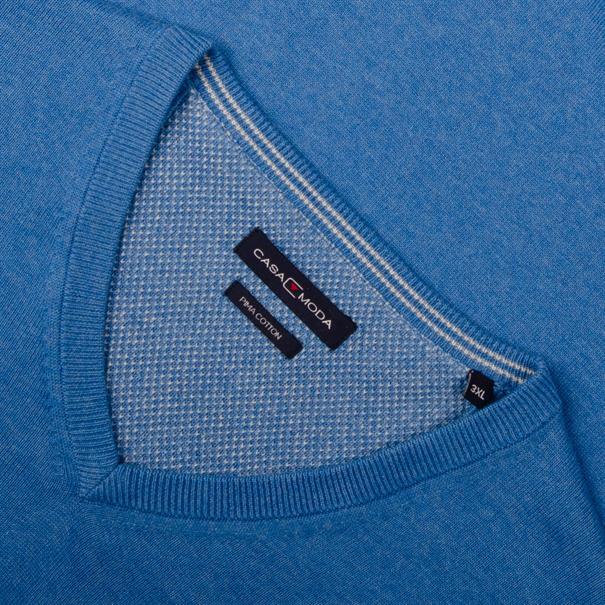 CASAMODA V-Pullover jeansblau
