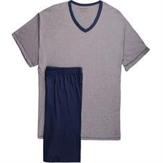 CECEBA halbarm Schlafanzug grau-meliert
