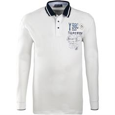 CLAUDIO CAMPIONE langarm Poloshirt weiß
