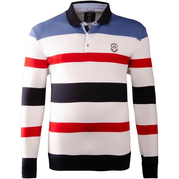 CLAUDIO CAMPIONE Polo-Sweatshirt weiß