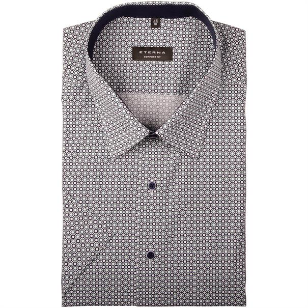 ETERNA halbarm Cityhemd grau