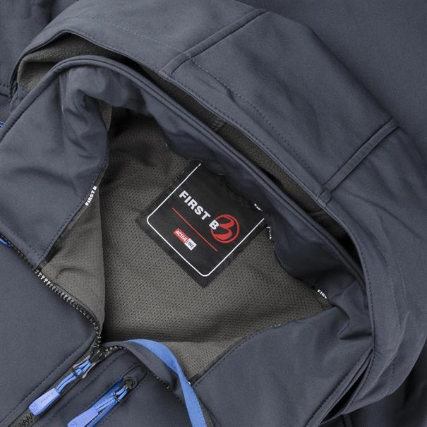 FIRST B Softshell-Jacke dunkelblau