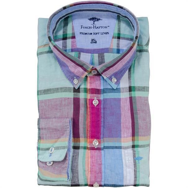 FYNCH-HATTON Freizeithemd 4XL - 6XL grün