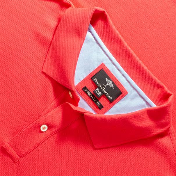 FYNCH-HATTON Poloshirt 4XL - 6XL rot