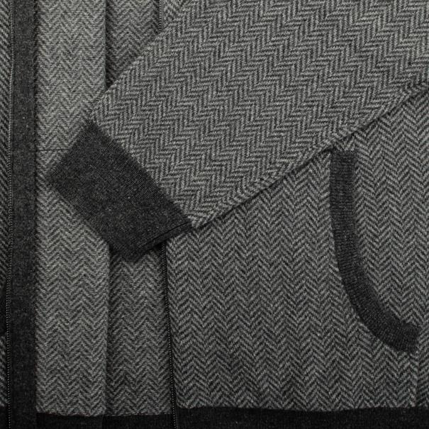 FYNCH HATTON Strickjacke grau-meliert