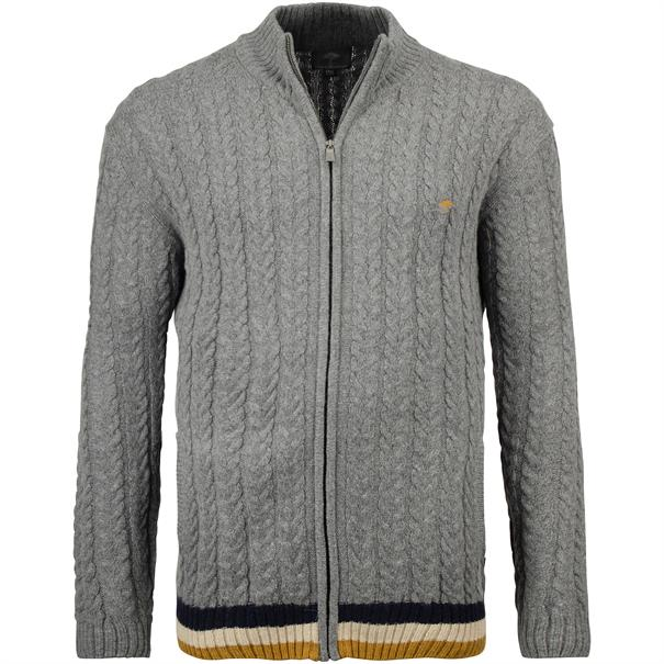 FYNCH HATTON Strickjacke grau