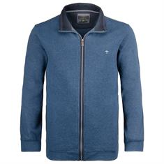 FYNCH HATTON Sweatjacke blau-meliert